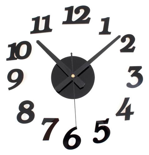 Diy Acrylic Wall Clock 30-50cm Diameter - Elet00666 / Jam Dinding