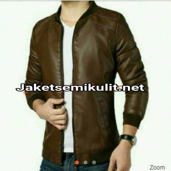 Jual jaket kulit bomber korea pilot asli kulit domba - jaket semi kulit 001   8a631a0f0e