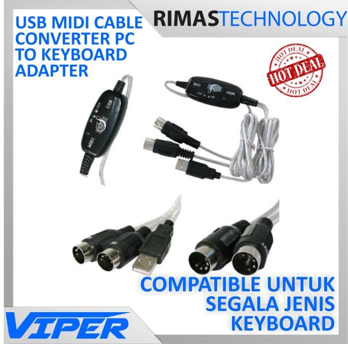 Foto Produk terbaru USB MIDI Cable Converter PC to Music Keyboard Adapter C telol< dari toko santy