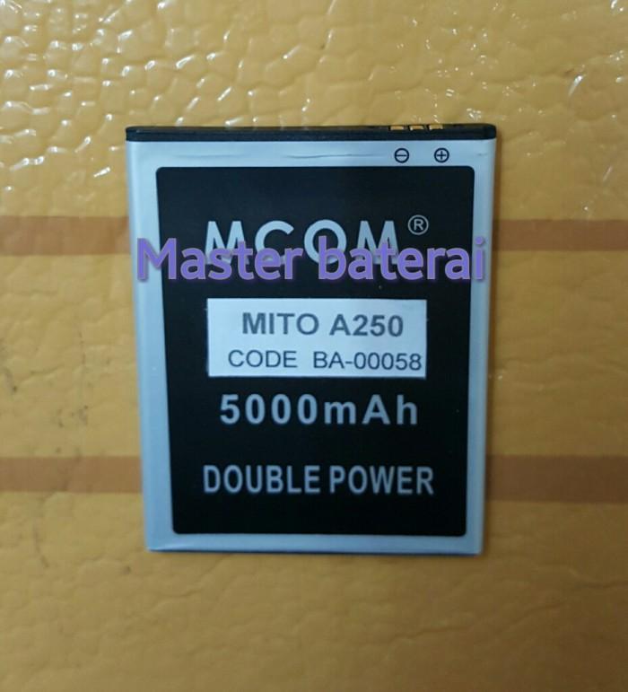 Baterai battery mito a250 fantasy 2 double power 6000mah
