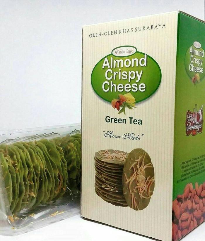 Jual Almond Crispy Cheese Green Tea Wisata Rasa Oleh Oleh Khas Malang Kota Malang Njajannyemilmalang Tokopedia