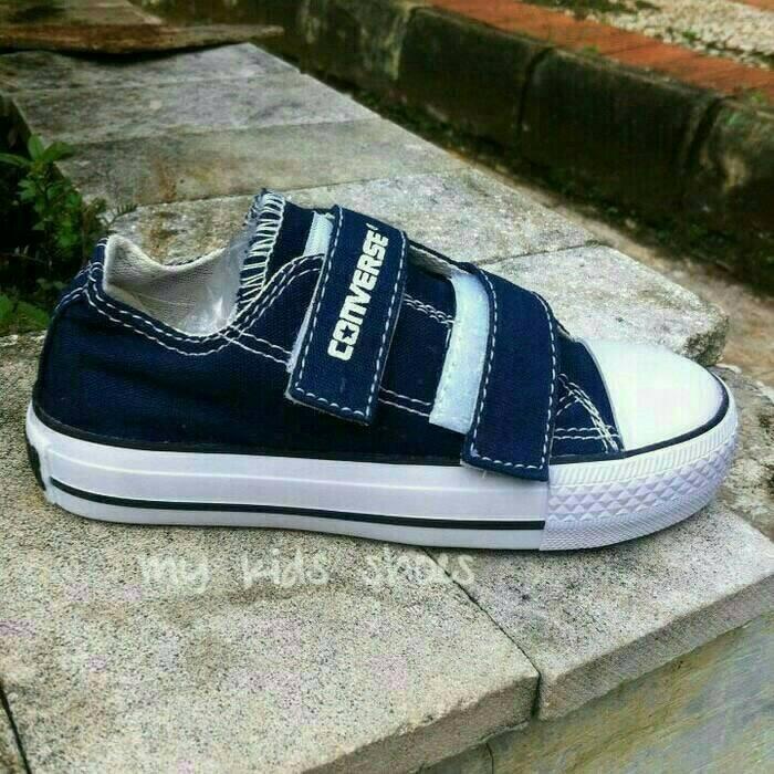 Jual Sepatu Converse Allstar Kids Navy Tanpa Tali + Box - Yohanes ... 7d72ea9532