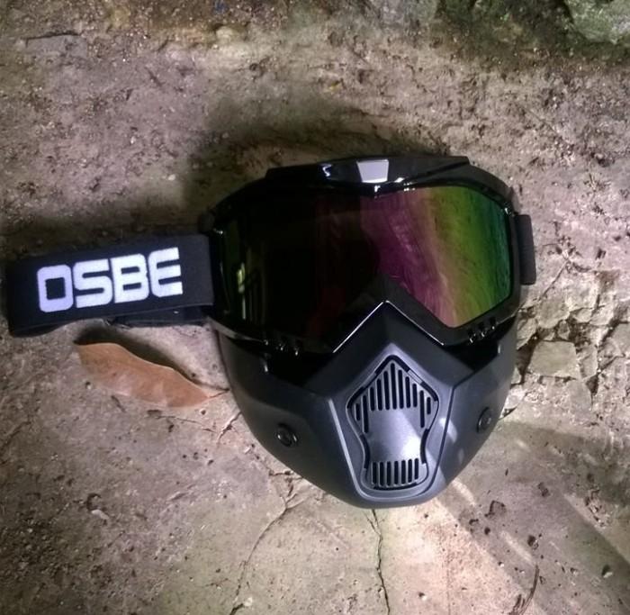 Gogglemask kacamata masker helm, snail beon shark osbe antman pelangi
