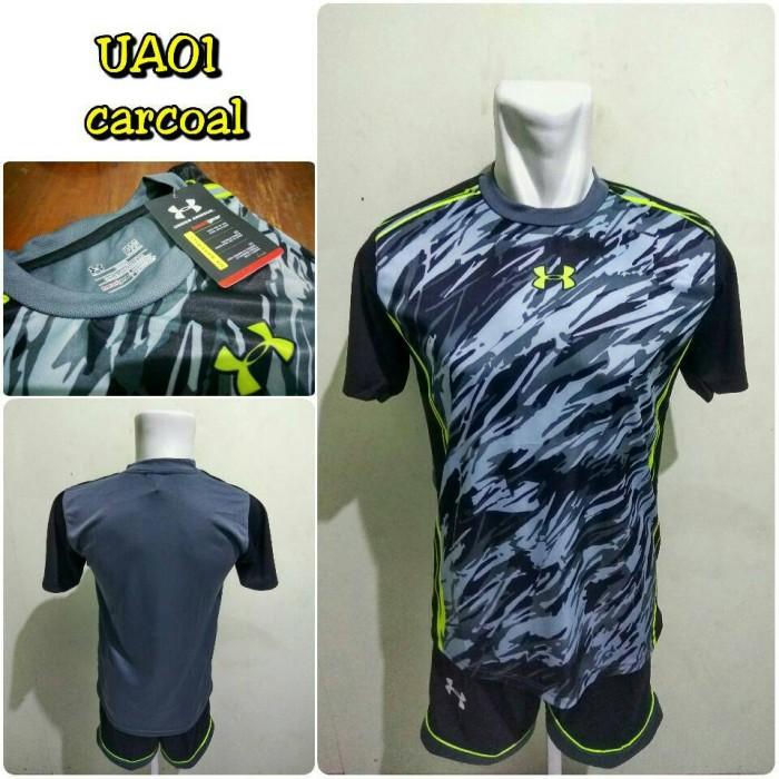 Jual Setelan Futsal Under Armour (UA01) CARCOAL kaos kostum jersey ... 3558a55b91