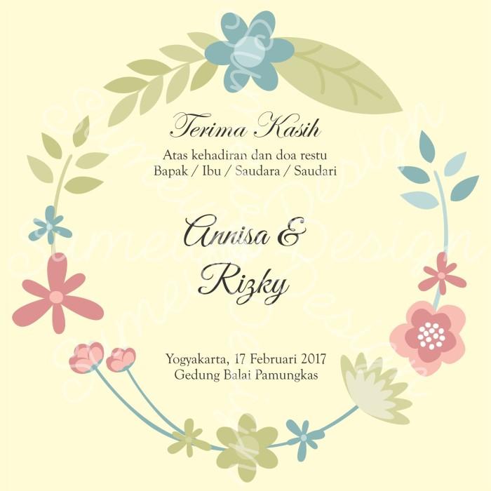 Template kartu ucapan pernikahan