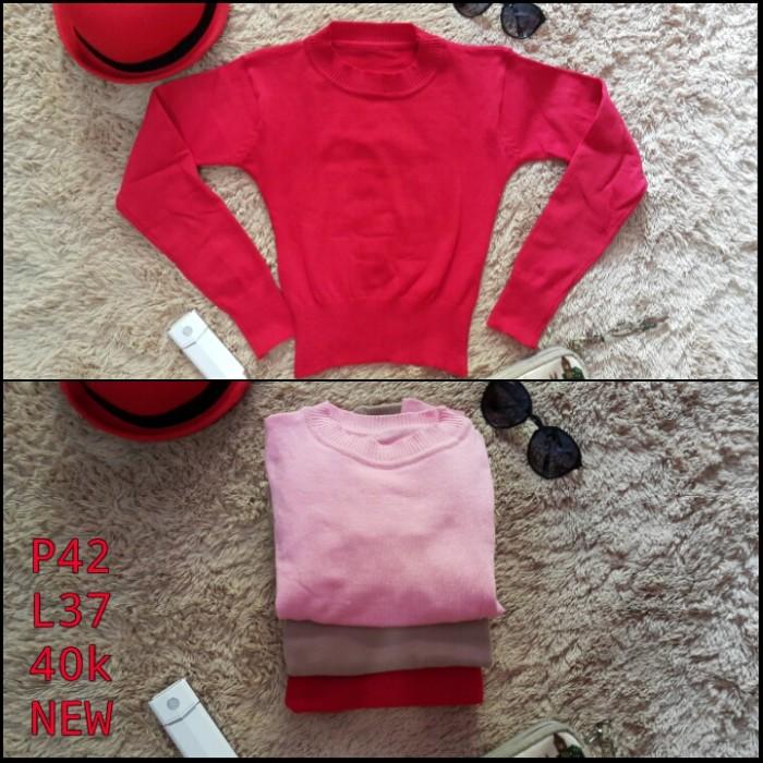 harga Crop sweater rajut wanita idaman Tokopedia.com