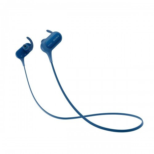 harga Sony extra bass sports bluetooth in ear headphone mdr-xb50bs - biru Tokopedia.com