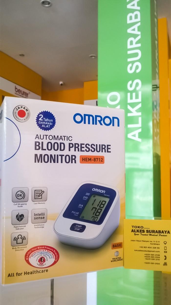Jual Tensimeter Digital Omron Hem 8712 Tipe Lengan Toko Alkes Blood Pressure Garansi