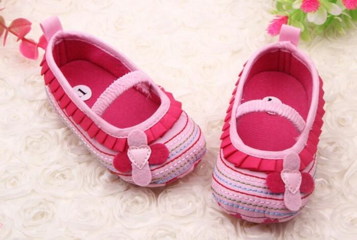 harga Pink flowers prewalker shoes -bayi anak sepatu sandal perempuan cewek Tokopedia.com