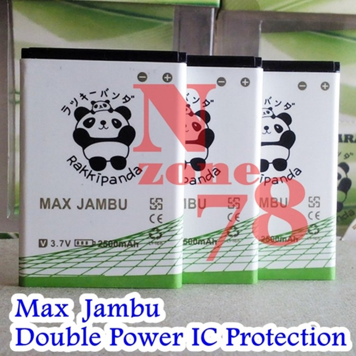 Baterai smartfren jambu hier rakkipanda double power protection