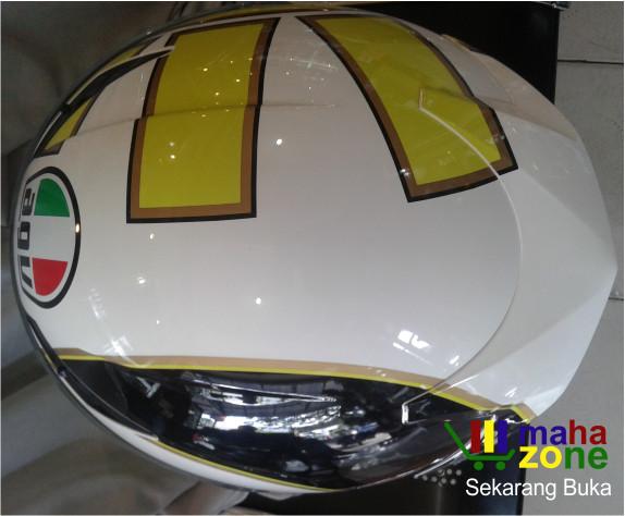 Helm AGV K3 Gothic White Yellow 4