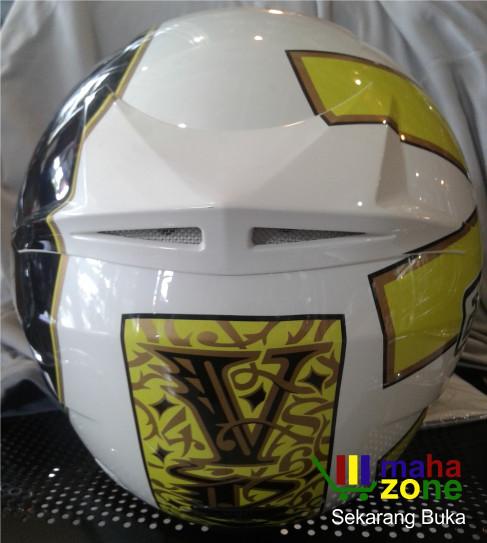 Helm AGV K3 Gothic White Yellow 3