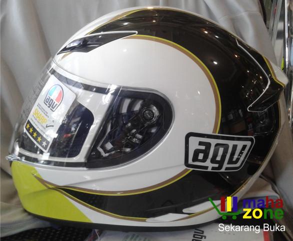 Helm AGV K3 Gothic White Yellow 1