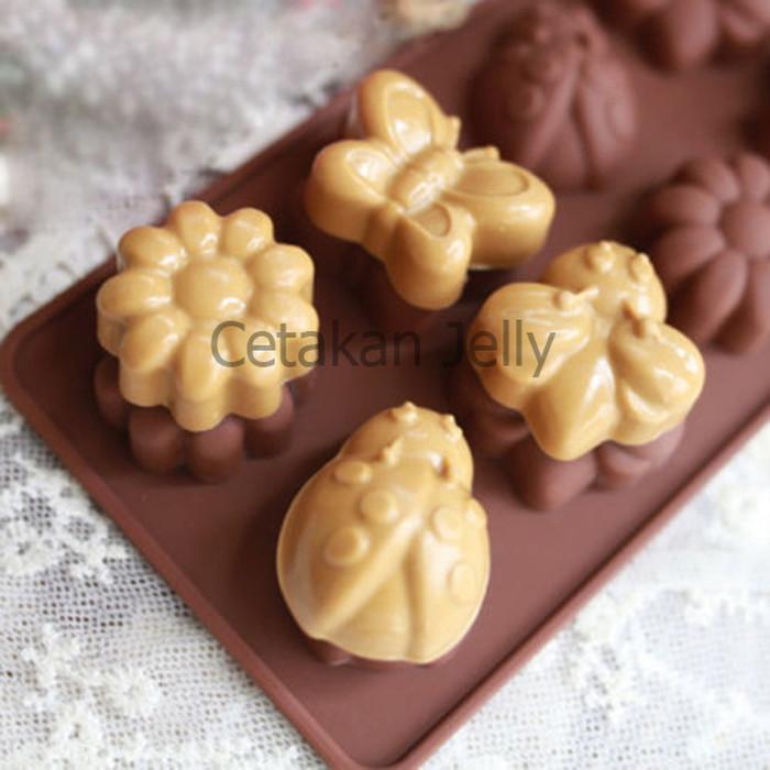 ... EXCLUSIVE Griya Cetakan Mini Flower & Butterfly Cokelat Murah LARIS