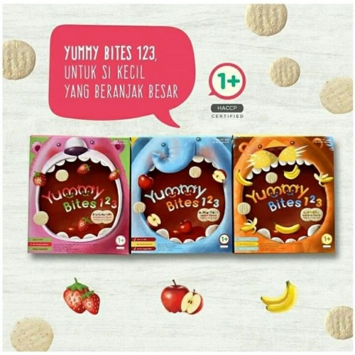 harga Yummy Bites 123 Snack Makanan Anak Balita Toddler Rice Cracker Tokopedia.com