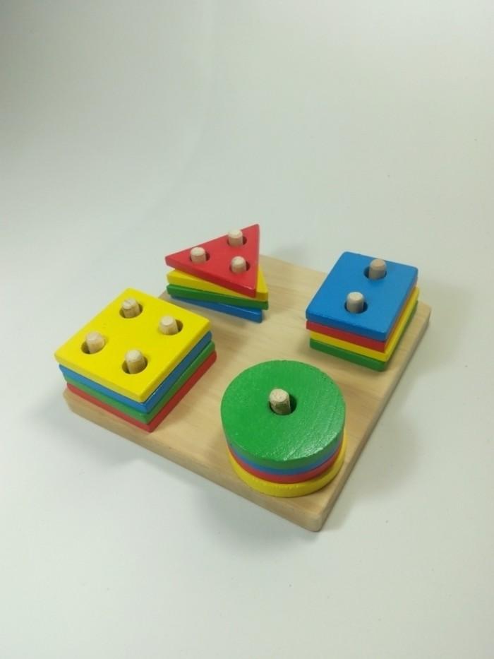 harga Mainan edukatif anak menara geometri Tokopedia.com