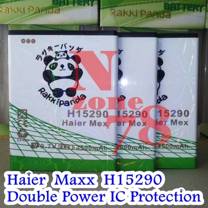 Baterai haier maxx h15290 rakkipanda double power protection