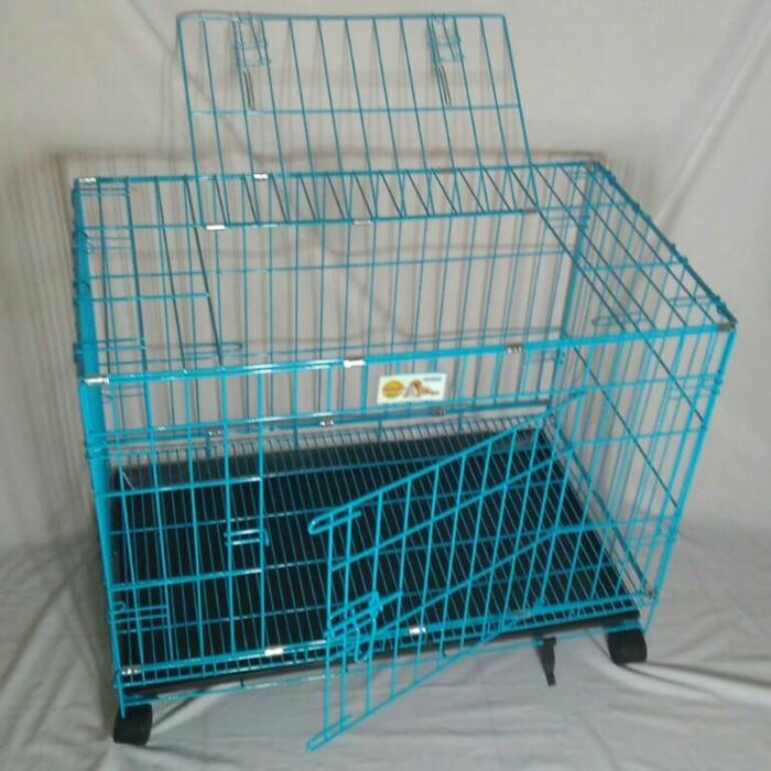 harga Kandang kucing-anjing d03 roda biru octagon khusus gojek Tokopedia.com