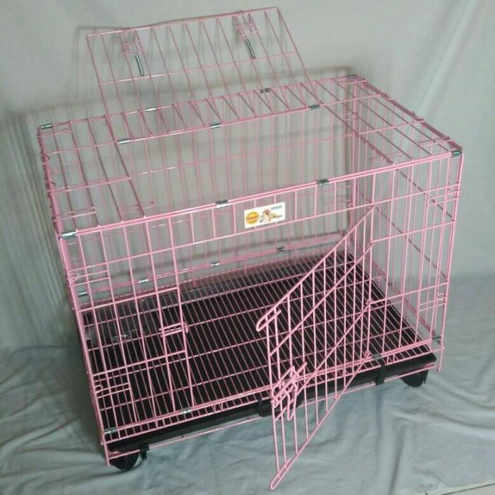 harga Kandang kucing-anjing d03 roda octagon pink Tokopedia.com