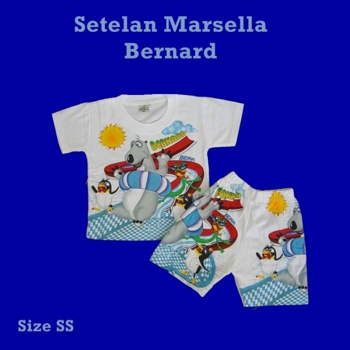 Setelan kaos oblong baju bayi / anak marsella pendek karakter bernard