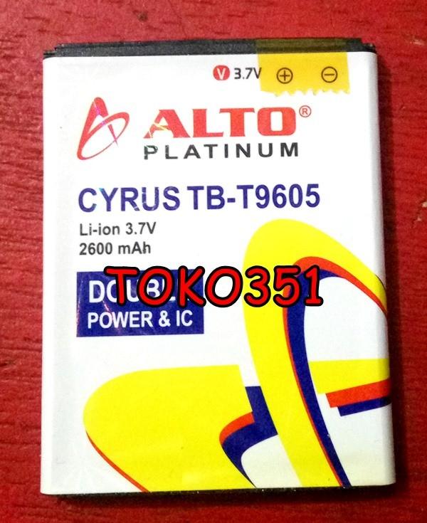 Batre Baterai Cyrus Cyruz Glory G1000 G 1000 Tb9605 Tb 9605