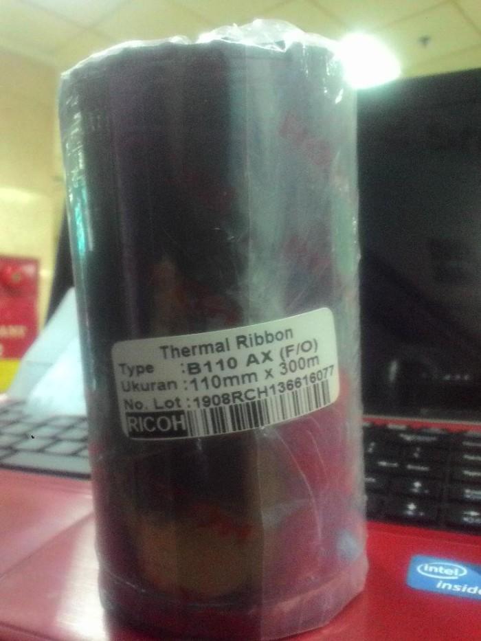 harga Ribbon barcode ricoh 110x300 meter wax resin Tokopedia.com