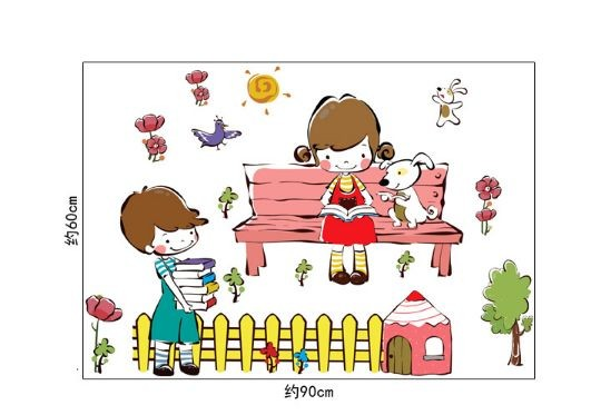 Boys & Girls Learning AY7256 - Stiker Dinding / Wall Sticker (50x70)