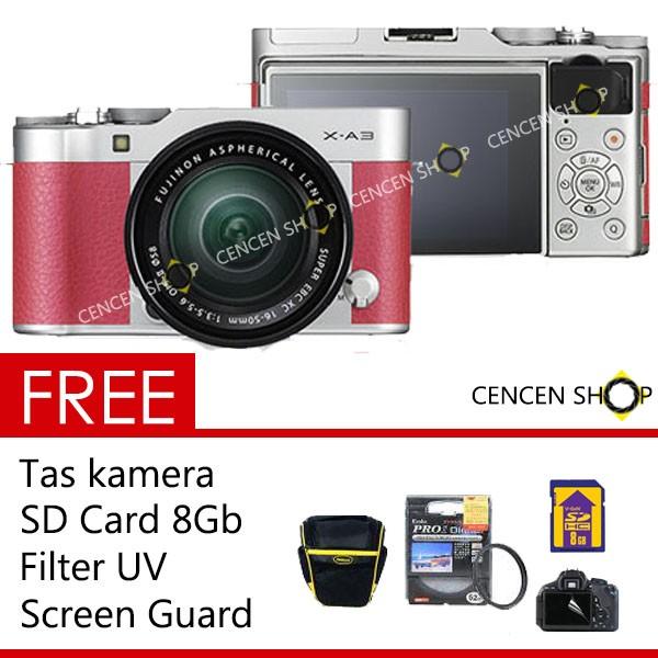 harga Free++ || fujifilm x-a3 kit 16-50mm f/3.5-5.6 ois ii xa3 x a3 - pink Tokopedia.com