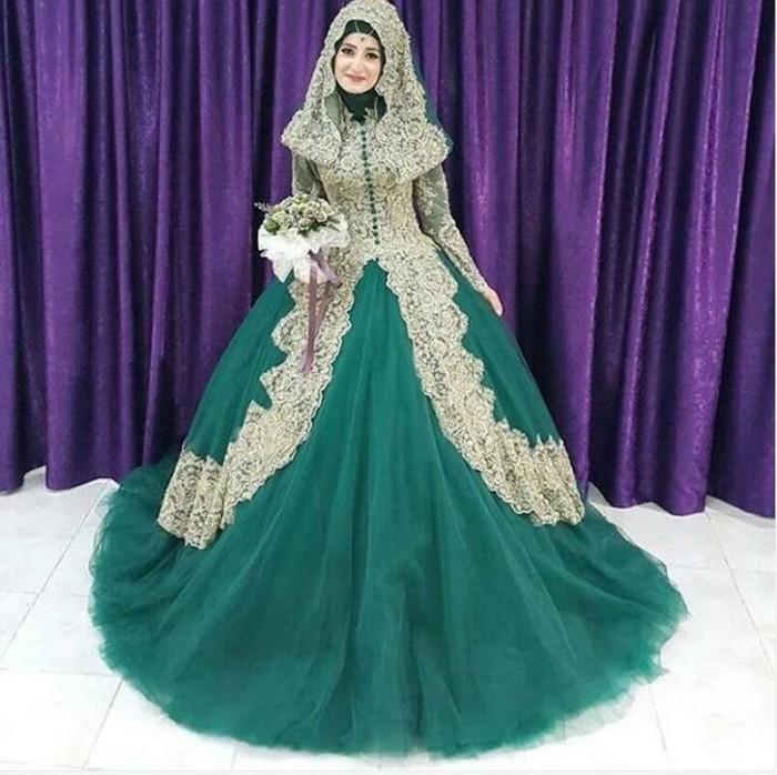 f73e1867c6 Jual gaun pengantin mewah wedding gown berhijab baju pengantin murah ...