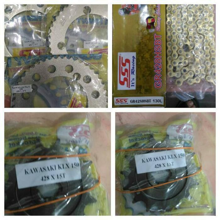 harga Gear/gear set sss klx/dtracker 428 rantai hsbt 130l gold Tokopedia.com