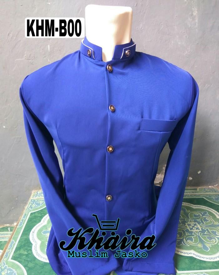 Foto Produk Jasko ( jas koko ) Biru polos / baju koko / kemeja dari khaira muslim store