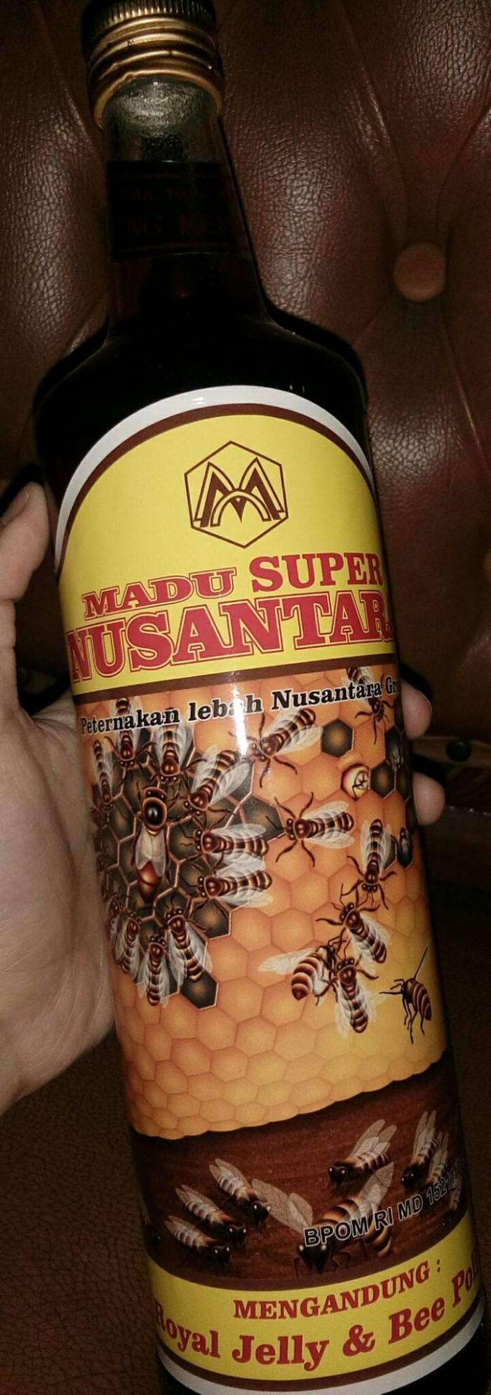 Jual Madu Super Nusantara Murni Royal Jelly Bee Pollen 650ml