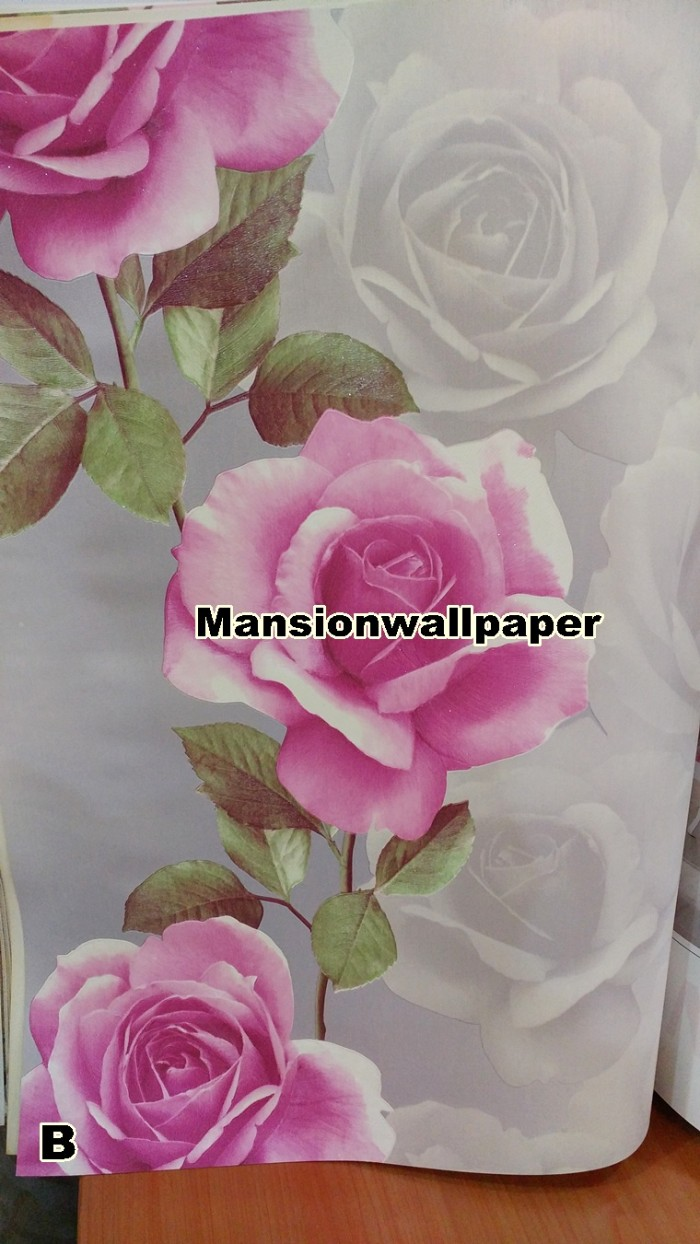 Jual Wallpaper Dinding Bunga Mawar 3D Eksklusif Jakarta Utara Mansion Wallpaper
