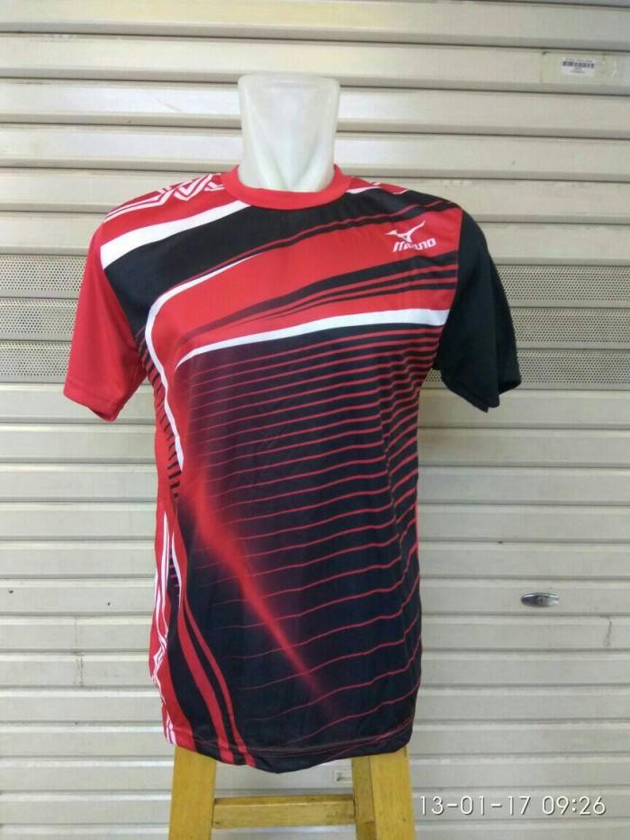harga Baju Kaos Voli / Volley Mizuno Mz05 Merah Tokopedia.com