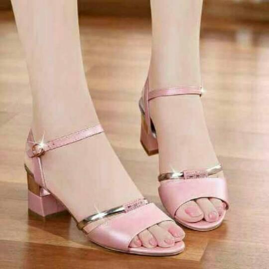 Sepatu wanita murah - sandal heels flower salem sh02 .