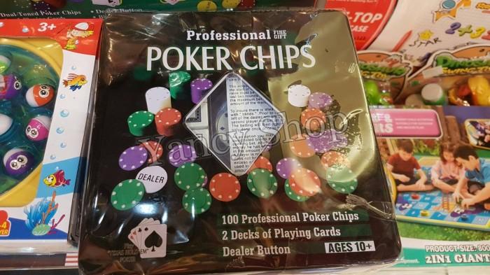 harga Board game chip poker set isi 100 Tokopedia.com