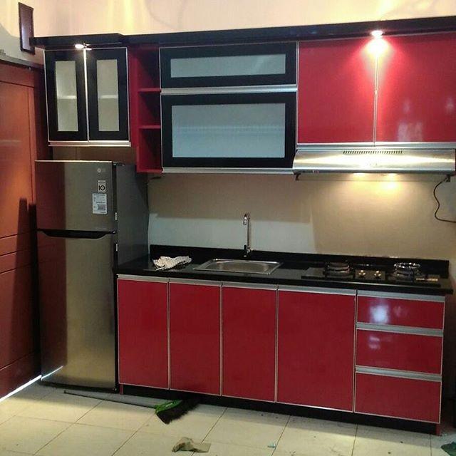 Jual Kitchen Set Minimalis Bandung Lemari Dapur Rak Dapur Kota