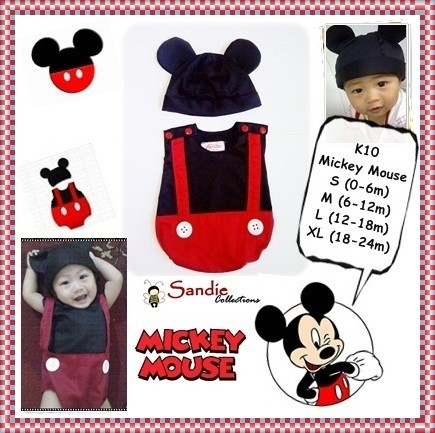 Foto Produk Baju Jumper Karakter Bayi Kostum Lucu Mickey Mouse Size L 1 tahun dari Bos Jumper Karakter