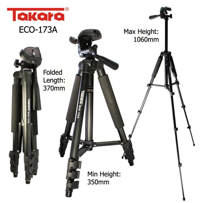 Tripod Takara ECO-173A bisa buat hp dan camdig bonus holder U
