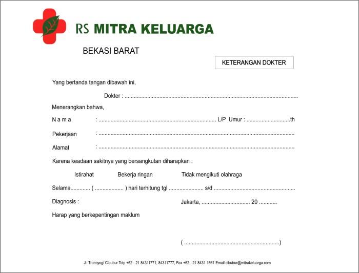 Surat Dokter Hermina Bekasi Related Keywords Suggestions