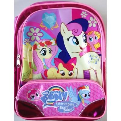 Tas Ransel TK Little Pony Pink + Fuschia (Bahan Koper+Resleting Bagu