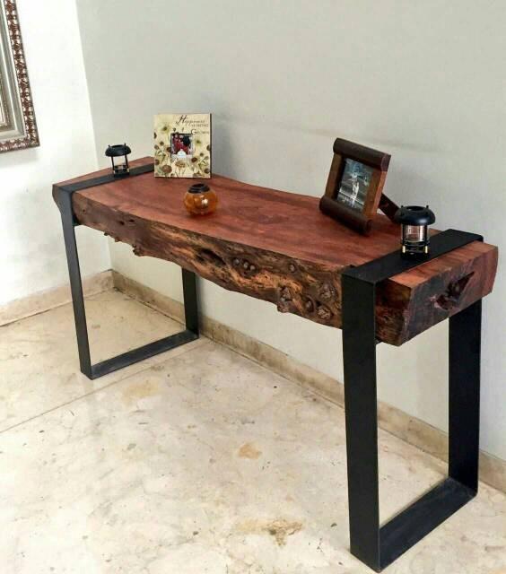 Jual Meja Kayu Rustic Kota Bekasi Tadpoles Furniture Tokopedia