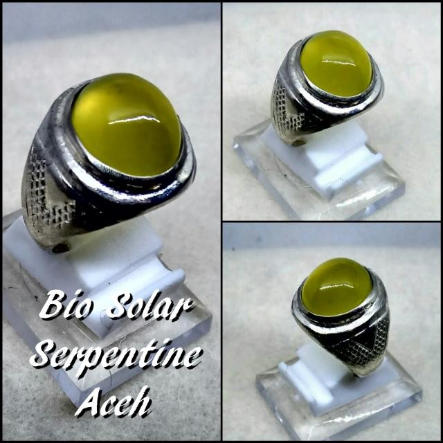 harga Cincin batu akik natural serpentine bio solar aceh mumbul giwang Tokopedia.com