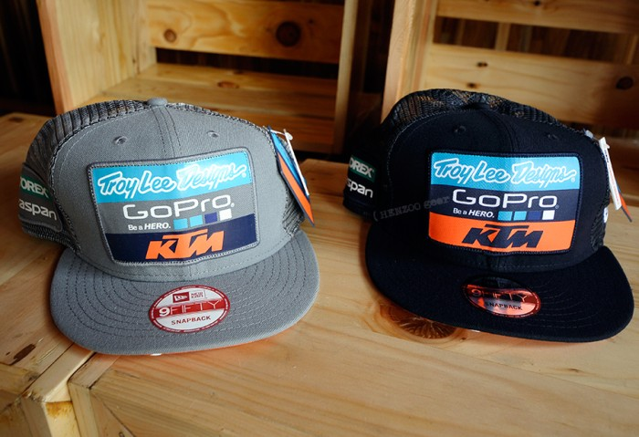 8001c325665 Jual Topi Troy Lee Designs 2016 Team KTM Snapback Hat Topi New Era ...