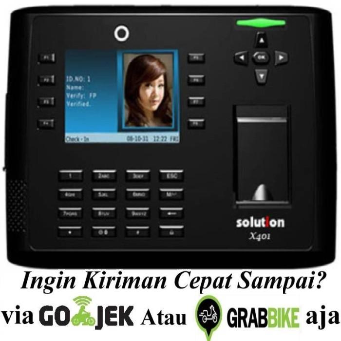 Solution x 401 mesin absensi sidik jari acces control fingerprint