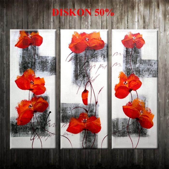 harga Lukisan bunga b933 Tokopedia.com
