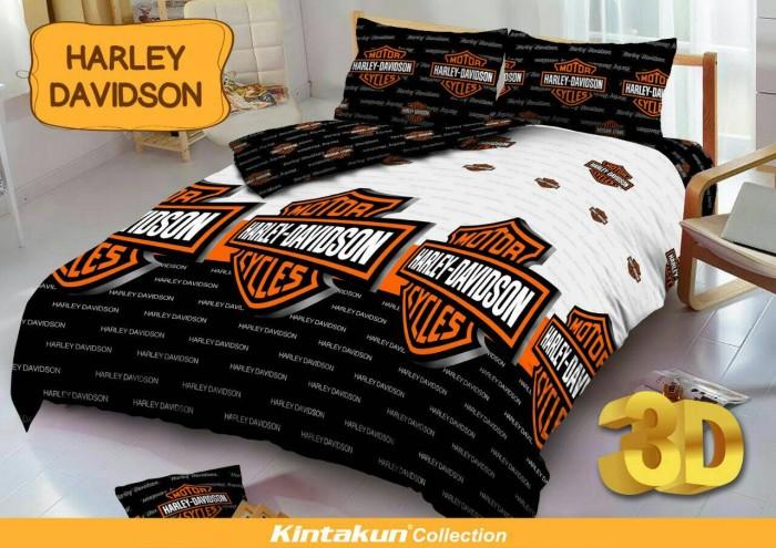 Sprei Kintakun D'luxe Uk.180X200 Motif Harley Davidson