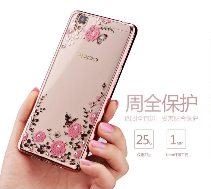 harga Hot!! case oppo f1 plus secret garden flower gold plating diamond Tokopedia.com