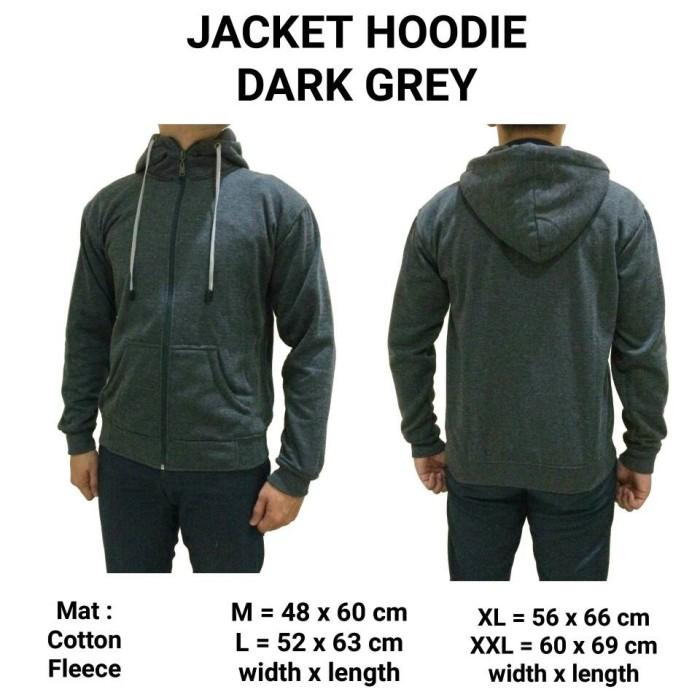 harga Jaket jacket hoodie dark grey murah keren gaul pria cowok kuliah Tokopedia.com