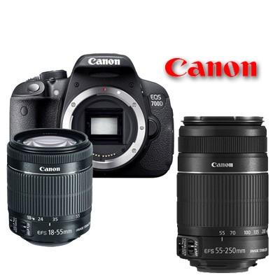 harga Canon eos 700d doble lens ( 18-55mm is ii + 55-250mm is ii )kamera slr Tokopedia.com